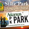 Arkansas State Parks- License Plate design advertisement - 2016