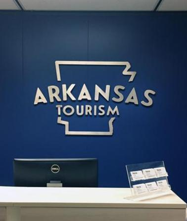 Arkansas Tourism Gift Shop metal sign